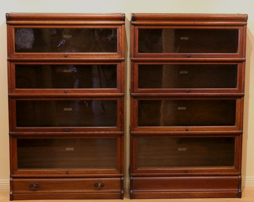 Pair Of Early 20th Century Globe Wernicke Bookcases The