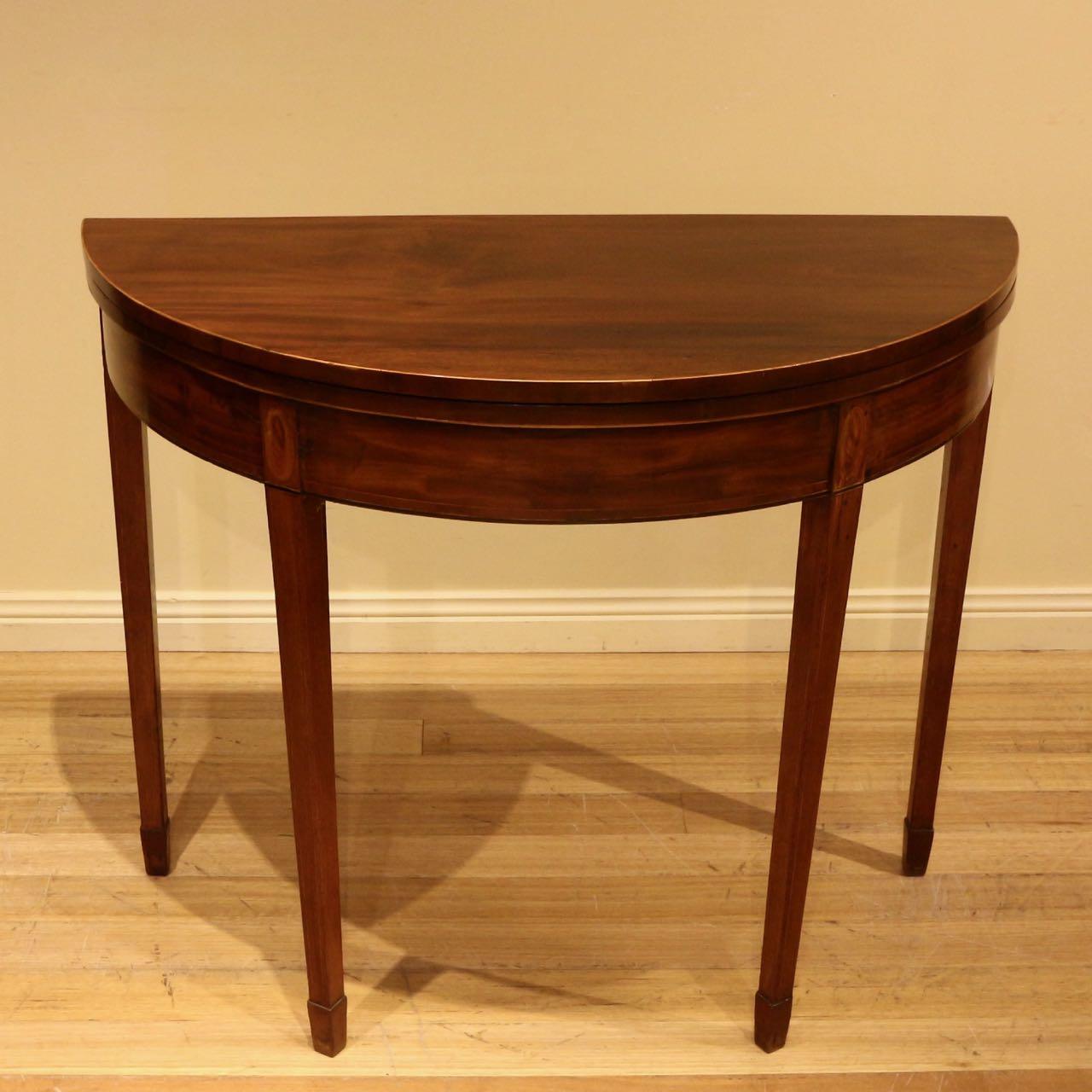 Georgian mahogany foldover card table